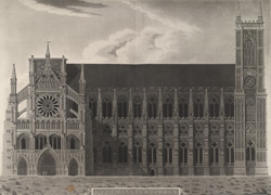 A Geometrical Elevation of the North Front of St Peter's, Westminster from actual measurements